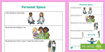 Personal Space Social Situation - Social story, personal space, social skills, social situation, learning, communication, pragmatics,A