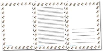 Kookabura Portrait Page Borders- Portrait Page Borders - Page border, border, writing template, writing aid, writing frame, a4 border, template, templates, landscape