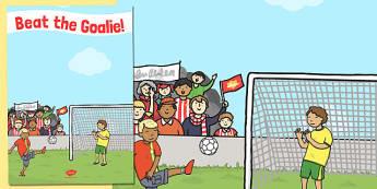 Beat the Goalie Poster - beat the goalie, poster, summer, fayre
