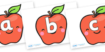 Phoneme Set on Cute Smiley Apple - Phoneme set, phonemes, phoneme, Letters and Sounds, DfES, display, Phase 1, Phase 2, Phase 3, Phase 5, Foundation, Literacy
