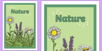 Nature Book Cover - Flowers and Insects Book Cover - nature, science, plants, minibeasts, topic, front cover,sceince,sci