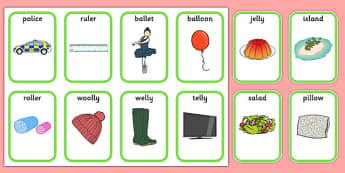 Medial l Playing Cards - speech sounds, phonology, articulation, speech therapy, dyspraxia