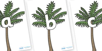 Phoneme Set on Palm Trees - Phoneme set, phonemes, phoneme, Letters and Sounds, DfES, display, Phase 1, Phase 2, Phase 3, Phase 5, Foundation, Literacy