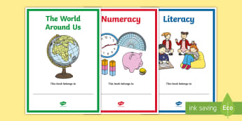 Northern Ireland Subject Editable Book Covers - Curriculum, NI, organisation, labels, folders, signs