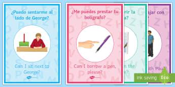 Spanish Target Language Display Posters - Classroom, Organisation, target, language, language, display, poster, spanish,