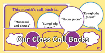 Attention Call Backs Display Pack-Scottish
