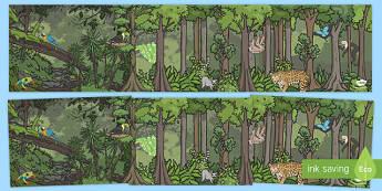 Rainforest-Themed Small World Background - kapok tree, the great kapok tree, rainforest themed, small world background, role play