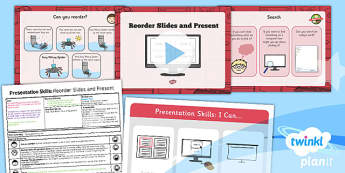 Computing: PowerPoint Presentation Skills: Reorder Slides and Present Year 2 Lesson Pack 5