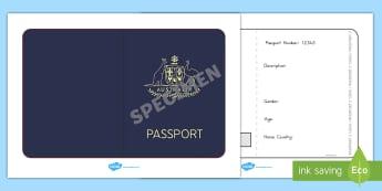 Australian Passport Template - passport, airline, australia