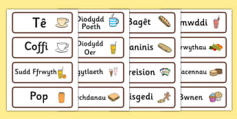 Cafe Role Play Word Cards (Welsh Translation) - roleplay, wales