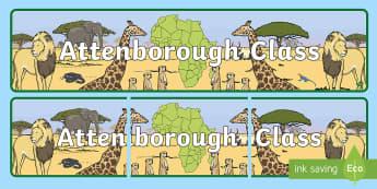 Attenborough Class Display Banner - David Attenborough Display Banner - david attenborough, biography, safari, discovery, natural world,