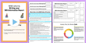 Writing Your SEN Information Report Training Pack Primary - writing, sen, information, report, training, pack, primary