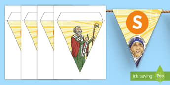 All Saints' Day Display Bunting - holy Day, Patron Saints, Feast Day, Catholic, November,Scottish, Christian, celebration