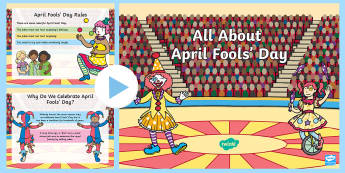 EYFS April Fools' Day PowerPoint - EYFS, Early Years, Nursery, Reception, Powerpoint, April, April Fools' Day, April 1st, First of Apr
