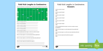 State of Origin Field Kick Lengths in Centimetres Activity Sheet - Australian Sporting Events Maths, maths, mathematics, NRL, rugby league, football, kick, length, com