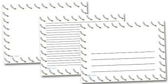 Pirate Sword Landscape Page Borders- Landscape Page Borders - Page border, border, writing template, writing aid, writing frame, a4 border, template, templates, landscape