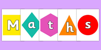 Maths On Shapes Display Cut Outs - maths, numeracy, shape, cutout