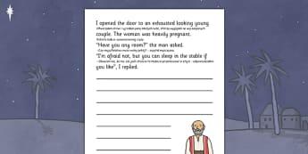 Nativity Story Starter Innkeeper Polish Translation - polish, nativity, story starter, innkeeper, christmas