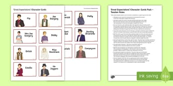 Great Expectations Character Cards Pack