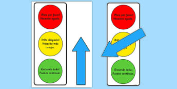 Semáforo Póster de ayuda - póster, semáforo, ayuda