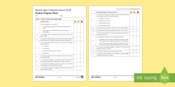 Edexcel Style Combined Science (Chemistry): Rates of Reaction Progress Sheet - Rates of Reaction, Energy Changes, Catalyst, Endothermic, Exothermic, Neutralisation, Displacement,