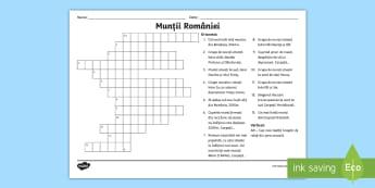 Munții României Rebus - Geografie, munți, munti, muntii, Carpații, Meridionali, Occidentali, Orientali, rebus, joc, romani