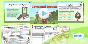 PlanIt History LKS2 Vikings Anglo Saxons Lesson 5 Laws Justice Pack