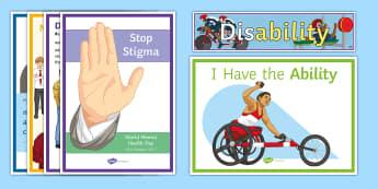 Disability Awareness Display Pack - Disability Awareness, display, international disability Awareness, raising awareness, special Educat
