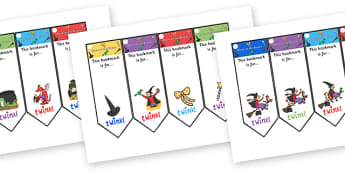 Editable Bookmarks to Support Teaching on Room on the Broom  - room on the broom, awards