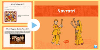 EYFS Navratri Information PowerPoint - Festival, Celebration, Hinduism, RE, good over evil, religious education.