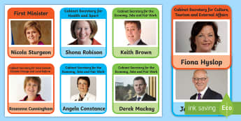 Scottish Government Cabinet Roles Information Cards - Holyrood, MSPs, Members of the Scottish Parliament, SNP, Scottish Politics, Scottish