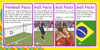 Rio 2016 Olympics Football Display Facts - rio, 2016, olympic, games, athletes, football, soccer sport, information, facts, research