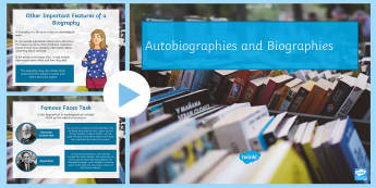 Autobiography and Biography PowerPoint - Autobiography and Biography PowerPoint - biography, autobiography, pp, ppt, english, quiz, tasks, au