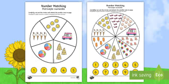 Number Matching Pegs Activity Summer Themed English/Romanian - Number Matching Pegs Activity Summer Themed - summer, matching, pegs, summertime, Timw, mathching,