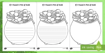 If I Found a Pot of Gold Writing Template - ROI - St. Patrick's Day Resources, St Patrick's Day, Paddy's Day, Pot of Gold, writing activity,