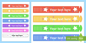 Wristband Awards (Editable) - editable, wristband, band, award, reward, award, certificate, medal, rewards, school reward, star of the day