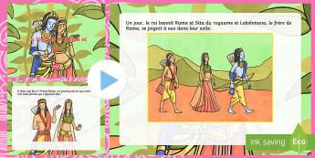 PowerPoint : La légende de Rama et Sita - Diwali, Inde, Ravana, religion, célébration,