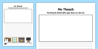 Mo Theach Activity Sheet - Irish, worksheet
