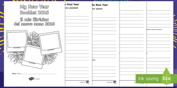 New Year Activity Booklet English/Italian  - KS2 New Year activity, resolutions, changes, KS2 resolutions, EAL