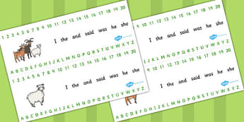 The Three Billy Goats Gruff Combined Number and Alphabet Strips