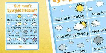 Sut Mae'r Tywydd Heddiw? - sut mae tywydd heddiw, Tywydd, Llafaredd, Cymraeg, welsh, cymraeg