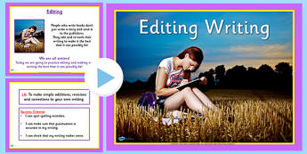 Editing Spelling and Punctuation PowerPoint - spelling, literacy