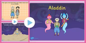 Aladdin Story PowerPoint - aladdin, story, powerpoint, slides