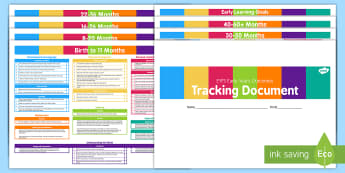 EYFS Early Years Outcomes Tracking Document September 2014 Divided into Ages and Stages
