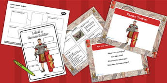 Roman Soldier Task Setter Lesson Pack - romans, ks2 history, roman empire