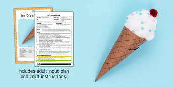 EYFS Ice Cream Cone Craft Adult Input Plan and Resource Pack - adult led