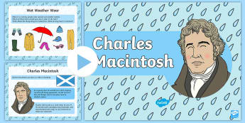 Charles Macintosh Information PowerPoint - waterproof, materials, invention, inventor, coat,