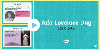 Ada Lovelace Day 11th October PowerPoint
