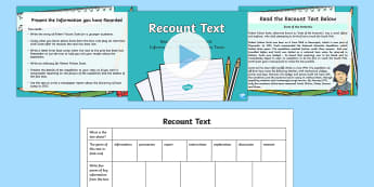 Recount Text Read, Record and Present Information Lesson Pack - deliver presentations, plan, ACELY1700, reading, comprehension, audience, purpose, multimodal,Austra