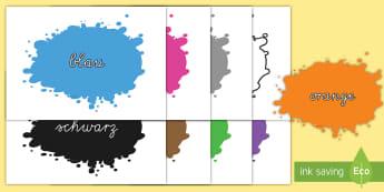 Farbkleckse für die Klassenraumgestaltung - Farbkleckse für die Klassenraumgestaltung, Farbkleckse, Farben, Farbpalette, Farbe, Farben Klassenr